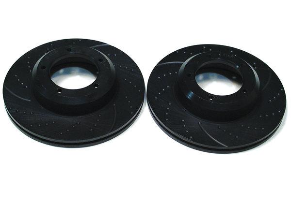 pair of slotted brake rotors