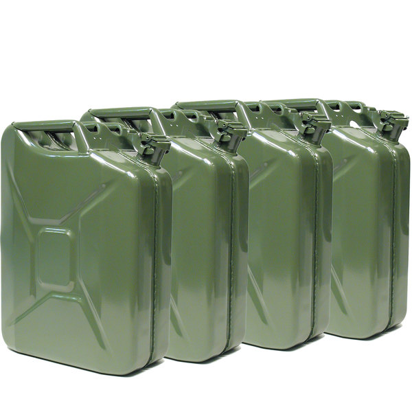 Green, metal Jerry Can