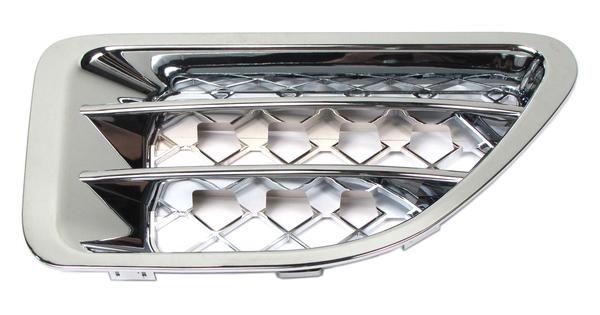 Passenger Side Fender Air Intake Grille JAK500320WWHC, Chrome Finish, For Range Rover Sport (See Fitment Notes)