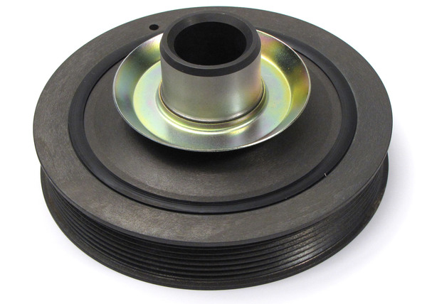Genuine Crankshaft Pulley / Harmonic Damper LHG000060 For Land Rover Discovery Series II And Range Rover P38