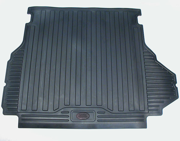 Genuine Loadspace Cargo Area Mat, Black Rubber With Land Rover Logo, For Range Rover Full Size L322 2003 - 2012