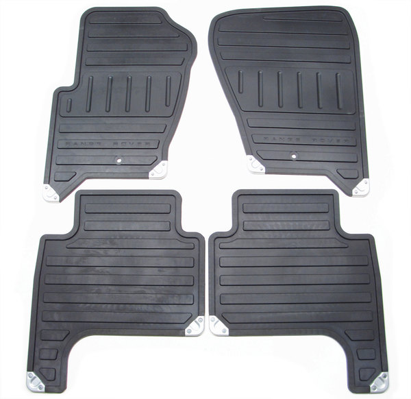Genuine Rubber Floor Mats VPLAS0198, 4-Piece Set, Front And Rear, Black, For Range Rover Sport, 2008 - 2013