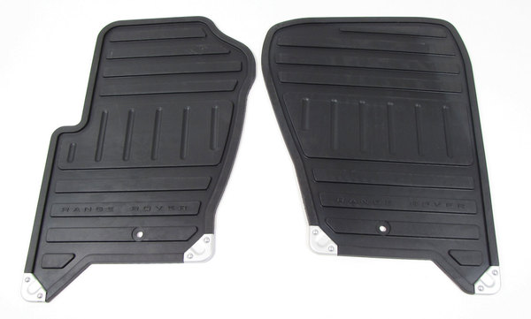 Rubber Floor Mat Set - Front Pair - Black