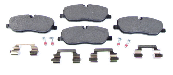 Front Brake Pads By Textar, Includes Pins And Retaining Clips, For Land Rover LR3, Range Rover Sport And Range Rover Full Size