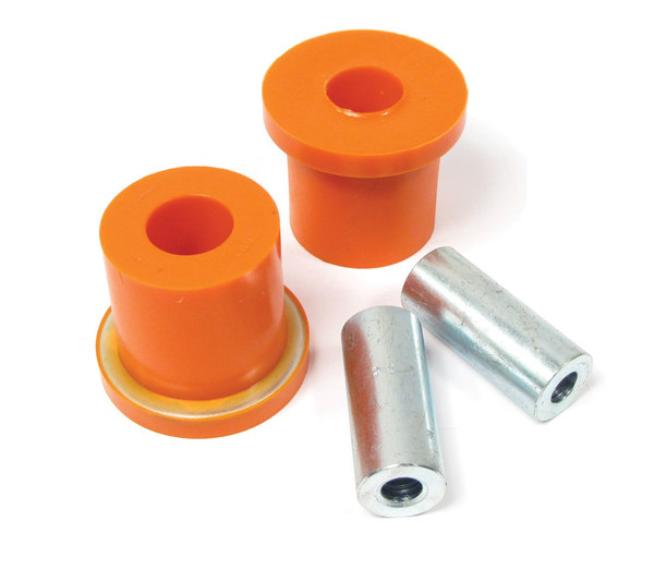 Polyurethane Bushings By Polybush LR025159, Pair, Front Lower Suspension Rear Of Arm (Orange / Standard Firmness) For Land Rover LR3 And LR4