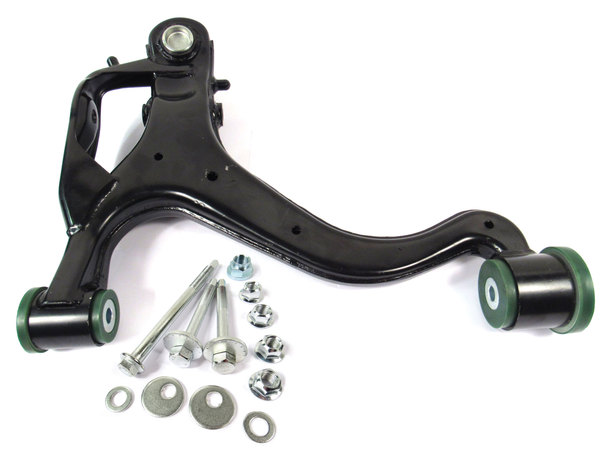 Lower Front Control Arm, Right Hand, Upgraded With Preloaded Semi-Firm Green Polyurethane Bushings And Bolt Kit For Range Rover Sport (2006-2009)