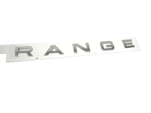 Genuine Front Hood Replacement Decal, 'Range' Text, For Range Rover Sport, 2014-2019