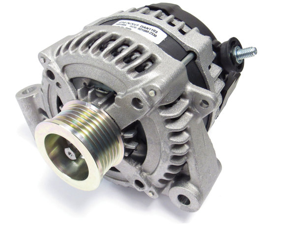 Alternator, Original Equipment By Denso LR065246, For Land Rover LR4 And Range Rover Sport, 2010 - 2013