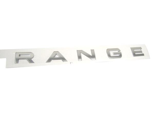 Genuine Rear Door Replacement Decal, 'Range' Text, For Range Rover Sport, 2014-2016