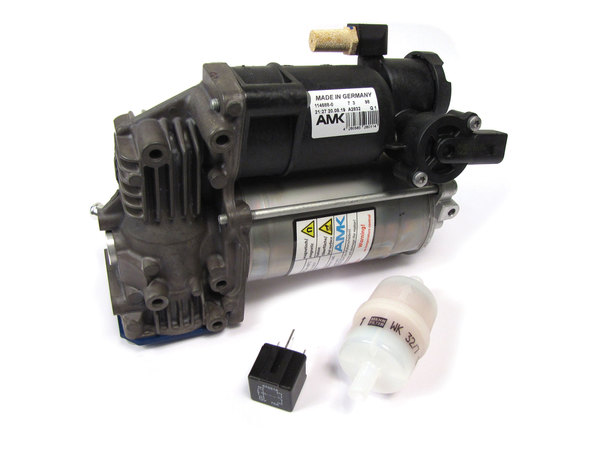 Electronic Air Suspension Compressor LR108984 (EAS) By AMK For Range Rover Sport And Range Rover Full Size (See Fitment Years)