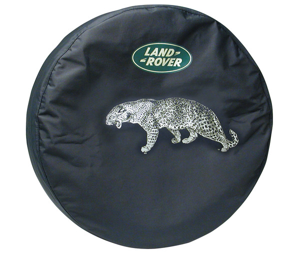 Genuine Wheel Cover For Spare Tire With Land Rover Logo, Leopard Design, For Land Rover Discovery I And Series II