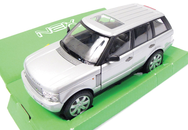 Diecast Collectible Toy Truck, Range Rover Full Size L322 Silver 1:24 Scale