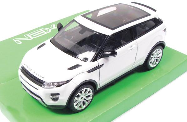 Diecast Collectible Toy Truck, Range Rover Evoque Fuji White 1:24 Scale