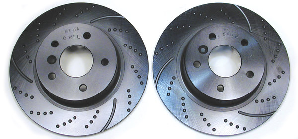 rear brake rotor for Land Rover Discovery Series II - NTC8781EBC