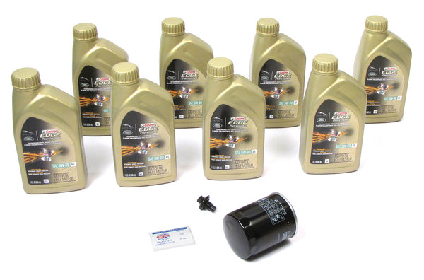 Complete Oil Change Kit For Land Rover LR3, Range Rover Sport, And Range Rover Full Size L322, Includes Oil Filter By MANN LR031439, 8 Quarts Original Equipment Castrol Edge Professional 5W/30 Oil, Drain Plug With Seal And Reminder Sticker