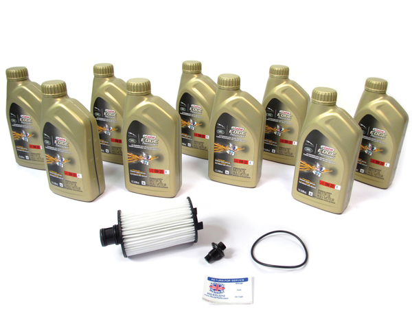 Complete Oil Change Kit For Land Rover LR4, Discovery 5, And Range Rover Sport Supercharged, Includes Cartridge Oil Filter With Seal By Mahle, 9 Quarts Castrol Edge Professional OE 0W/20 Oil And Reminder Sticker (See Fitment Years)