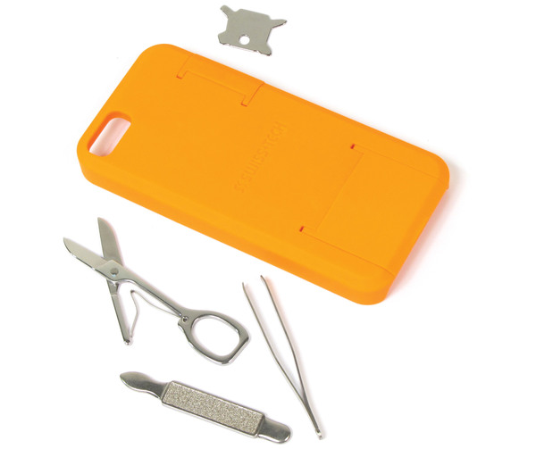 Smartphone Tool Case For iPhone 5 & 5S By Swiss Tech (Orange)
