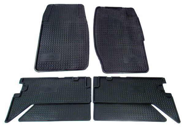 Genuine Black Rubber Floor Mats STC8188AB, Front And Rear, 3-Piece Set, For Land Rover Discovery I