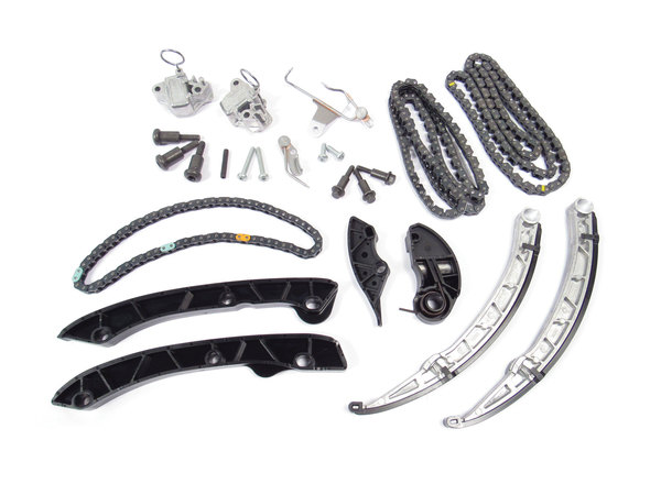 Complete Genuine Timing Chain Replacement Kit, Upper And Lower Chains, Tensioners, Guides, Seals And Hardware, For 5.0L V8 Land Rover LR4, Range Rover Full Size And Range Rover Sport (See Fitment Years)