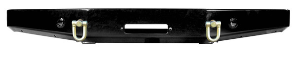 Front Steel Bumper, Heavy Duty, Black With Integrated Winch Mount By Terrafirma For Discovery Series II