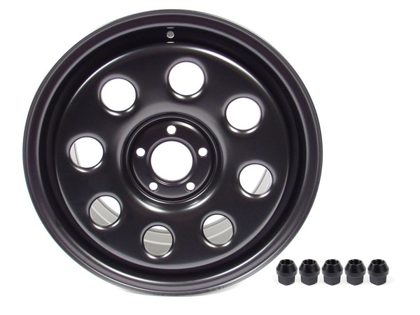 Steel Wheel By Terrafirma, Satin Black 18 X 8 Inch, For Land Rover LR3, Range Rover Sport And Range Rover Full Size L322 (See Fitment Years)