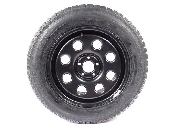 Yokohama tire on steel wheel