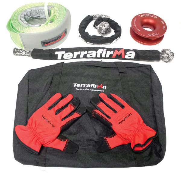 Terrafirma Pro Winch Recovery Kit, 26,400 Lb. Capacity, For Use With Synthetic Winch Rope