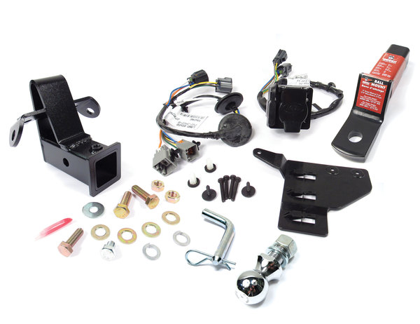 Trailer Towing Package For Land Rover LR4: Class 3 Bolt-On 2-Inch Tow Hitch, Trailer Wiring Kit, Tow Ball, 2-Inch Drop Ball Mount And Pin And Clip