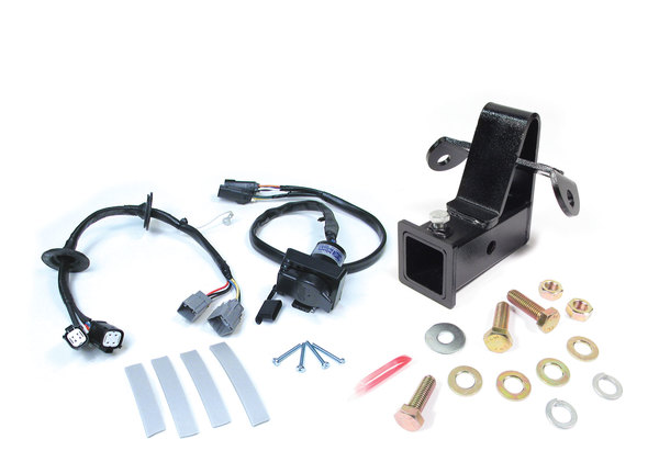 Towing / Trailer Hitch Receiver, 2-Inch, Class III, Permanent Bolt-On With Trailer Wiring Kit For Land Rover LR3