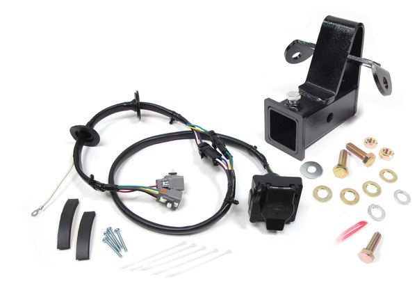 Trailer Wiring And Towing Kit, 2-Inch Class 3 Bolt-On Trailer Hitch And Wiring Harness With Flat-4 And 7-Way Connectors For Land Rover LR4