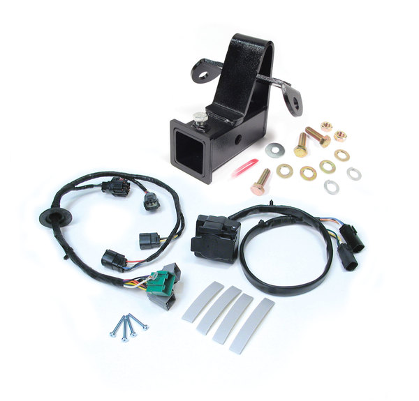 Trailer Wiring And Towing Kit, 2-Inch Class 3 Bolt-On Trailer Hitch And Wiring Harness With Flat-4 And 7-Way Connectors For Range Rover Sport 2006 - 2009