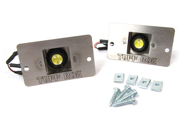 Rear License Plate LED Lights With Pods By Tuff-Rok, Pair, For Land Rover Discovery I And Discovery Series II