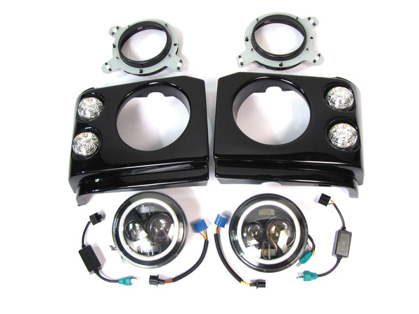 Upgraded Headlight Pods And Lights By Tuff-Rok, Pair, For Land Rover Discovery Series II, Pre-Facelift 1999 - 2002