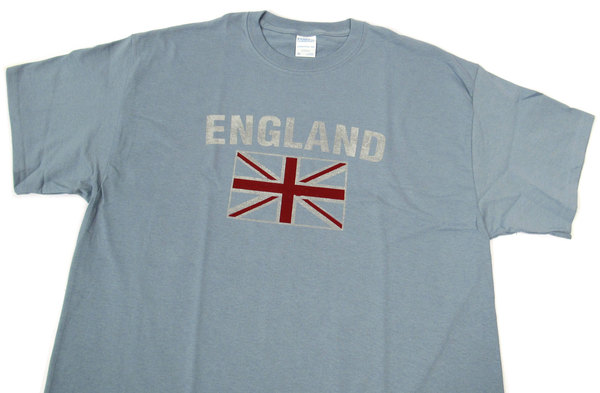England Union Jack blue T Shirt