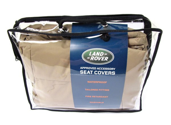 Genuiine Waterproof Seat Covers VPLCS0291SVA, Front Pair In Almond Color, For Land Rover Discovery Sport