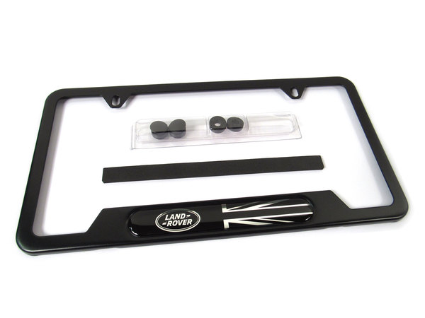 black Land Rover license plate frame - VPLVY0073G