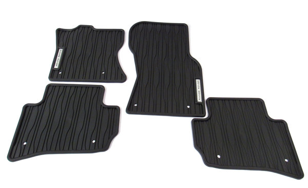 Floor Mat Set Front & Rear Rubber