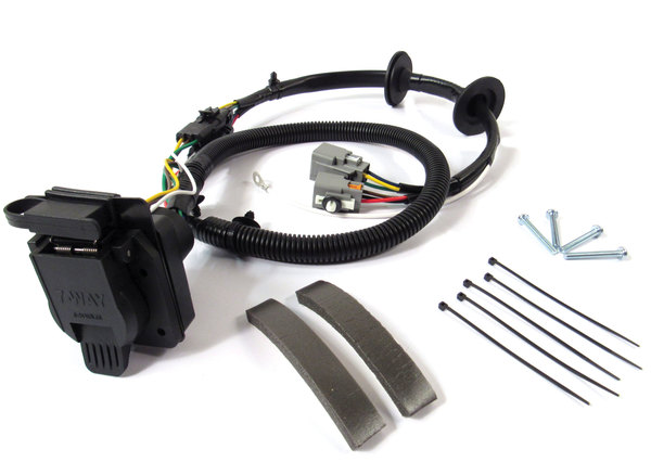 Trailer Wiring Kit YWJ500220 By Atlantic British For Land Rover LR3, Includes Flat-4 And 7-Way Connectors