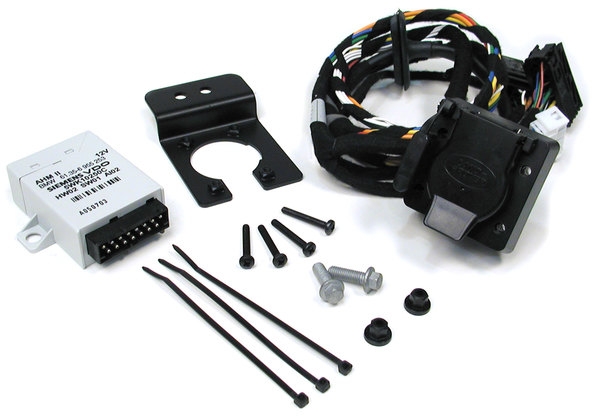 Genuine Trailer Wiring Kit YWJ500480, Includes Flat-4 And 7-Way Connectors, For Range Rover Full Size L322, 2006 - 2009
