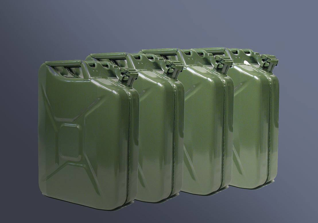 4 five gallon Jerry cans