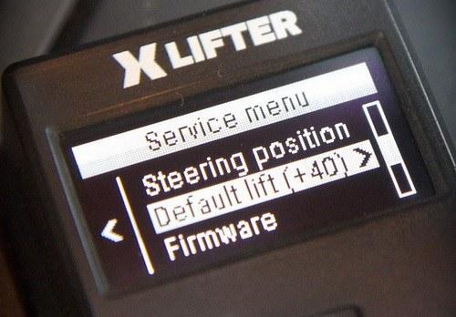 XLifter service menu